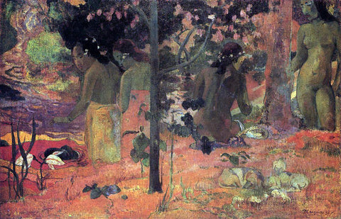 Paul Gauguin The Bathers - Hand Painted Oil Painting