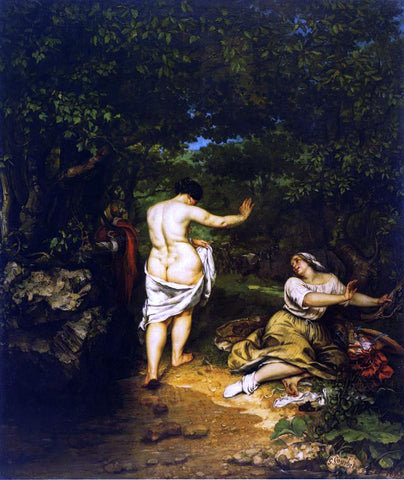 Gustave Courbet The Bathers - Hand Painted Oil Painting