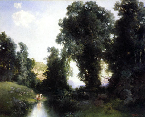 Thomas Moran The Bathing Hole, Cuernavaca, Mexico - Hand Painted Oil Painting
