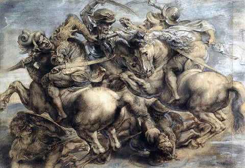 Leonardo Da Vinci The Battle of Anghiari - Hand Painted Oil Painting