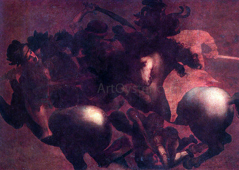 Leonardo Da Vinci The Battle of Angihiari - Hand Painted Oil Painting
