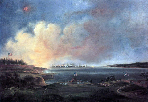 Alfred Jacob Miller The Battle of Fort McHenry - Hand Painted Oil Painting