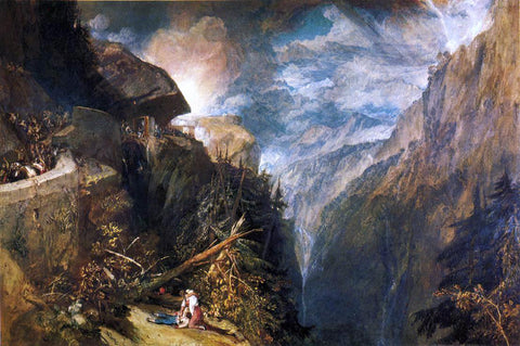Joseph William Turner The Battle of Fort Rock, Val d'Aouste, Piedmont - Hand Painted Oil Painting