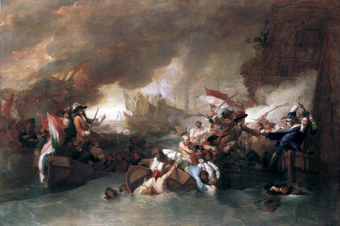 Benjamin West The Battle of La Hogue - Hand Painted Oil Painting