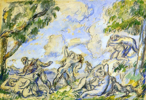 Paul Cezanne The Battle of Love - Hand Painted Oil Painting