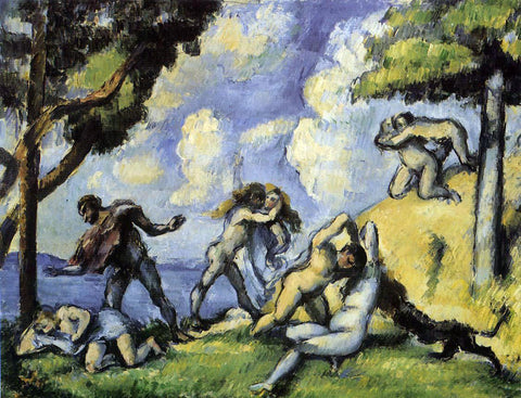 Paul Cezanne The Battle of Love, I - Hand Painted Oil Painting