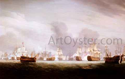 Thomas Whitcombe The Battle Of The Glorious 1st Of June 1794 - Hand Painted Oil Painting