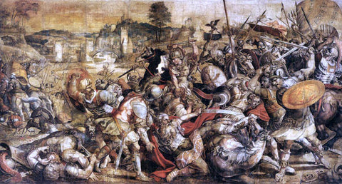 Unknown (4) Masters The Battle of the Ticino - Hand Painted Oil Painting