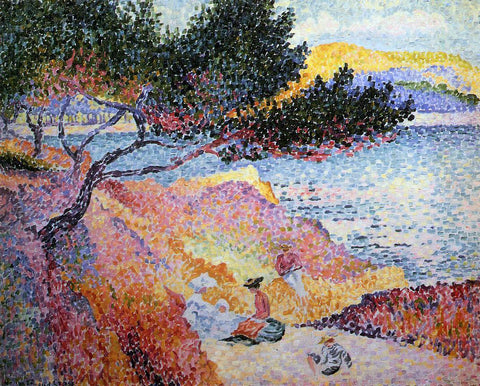 Henri Edmond Cross Bay at Cavaliere - Hand Painted Oil Painting