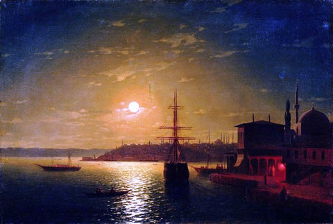 Ivan Constantinovich Aivazovsky The Bay Golden Horn, Turkey - Hand Painted Oil Painting