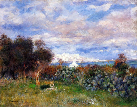 Pierre Auguste Renoir The Bay of Algiers - Hand Painted Oil Painting