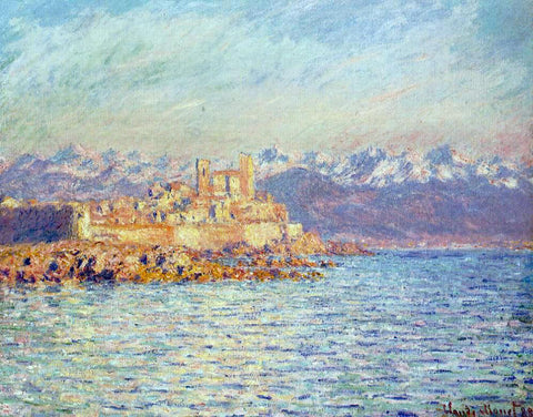 Claude Oscar Monet The Bay of Antibes - Hand Painted Oil Painting