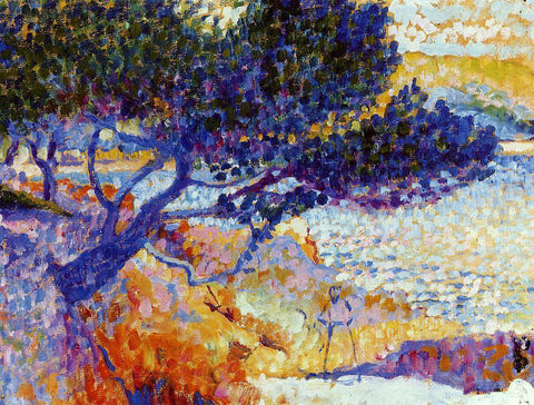 Henri Edmond Cross The Bay of Cavaliere (study) - Hand Painted Oil Painting