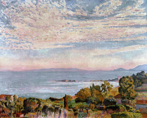 Theo Van Rysselberghe The Bay of Saint Clair - Hand Painted Oil Painting
