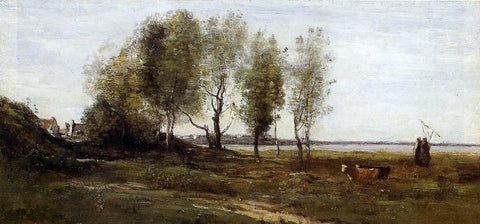 Jean-Baptiste-Camille Corot The Bay of Somme - Hand Painted Oil Painting