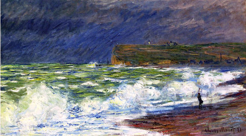 Claude Oscar Monet The Beach at Fecamp - Hand Painted Oil Painting