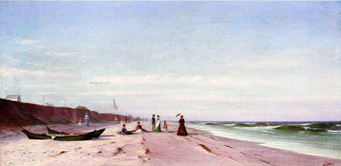 Francis A Silva The Beach at Long Branch, New Jersey - Hand Painted Oil Painting