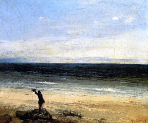 Gustave Courbet The Beach at Palavas (also known as Le bord de mer a Palavas) - Hand Painted Oil Painting