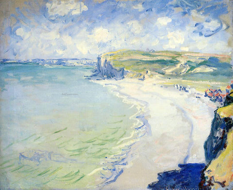Claude Oscar Monet The Beach at Pourville - Hand Painted Oil Painting