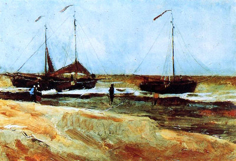 Vincent Van Gogh The Beach at Scheveningen in Calm Weather - Hand Painted Oil Painting