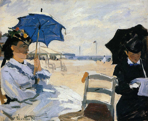 Claude Oscar Monet The Beach at Trouville - Hand Painted Oil Painting