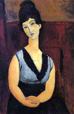 Amedeo Modigliani The Beautiful Confectioner - Hand Painted Oil Painting