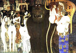 Gustav Klimt The Beethoven Frieze the Hostile Powers Left Part Detail  - Hand Painted Oil Painting