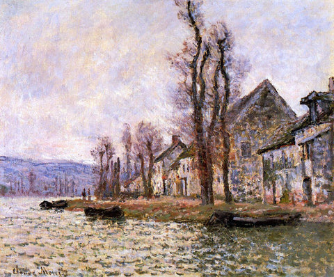 Claude Oscar Monet The Bend of the Seine at Lavacourt, Winter - Hand Painted Oil Painting
