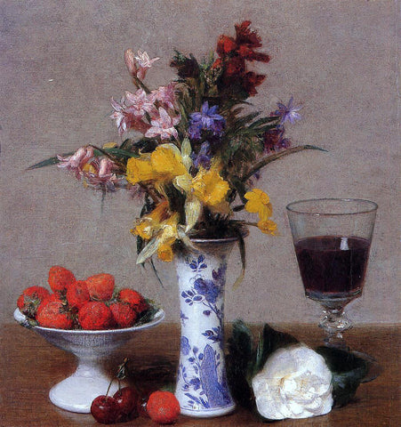 Henri Fantin-Latour The Bethrothal Still Life - Hand Painted Oil Painting