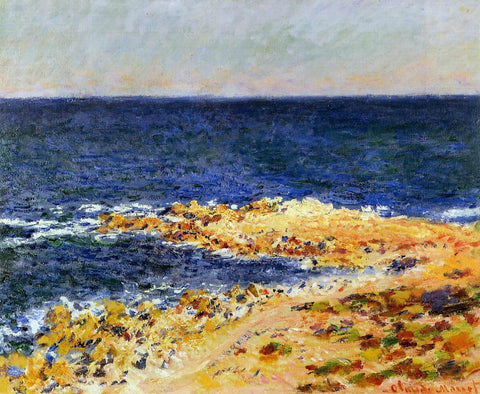 Claude Oscar Monet The 'Big  Blue' at Antibes (also known as The Seat at Antibes) - Hand Painted Oil Painting