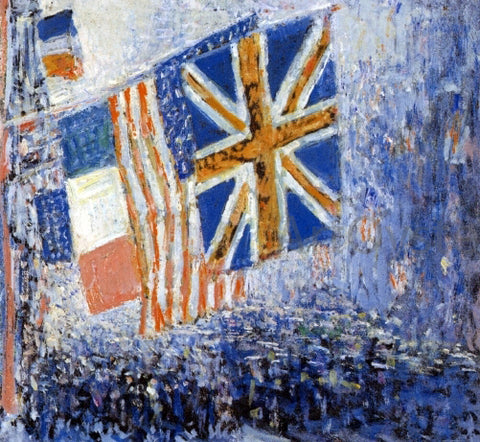 Frederick Childe Hassam The Big Parade - Hand Painted Oil Painting