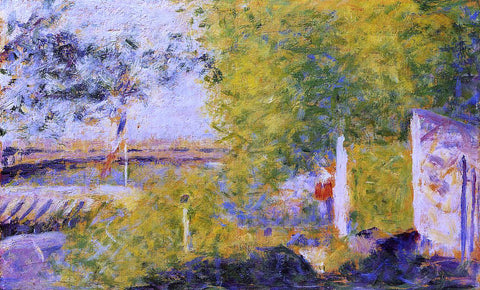 Georges Seurat The Bineau Bridge - Hand Painted Oil Painting