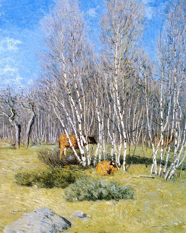 Julian Alden Weir The Birches - Hand Painted Oil Painting