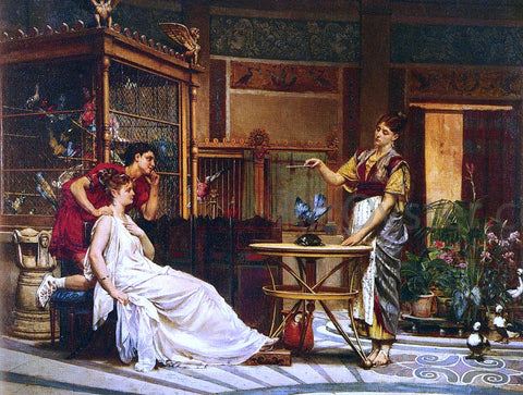 Pierre-Paul-Leon Glaize The Bird Charmer - Hand Painted Oil Painting