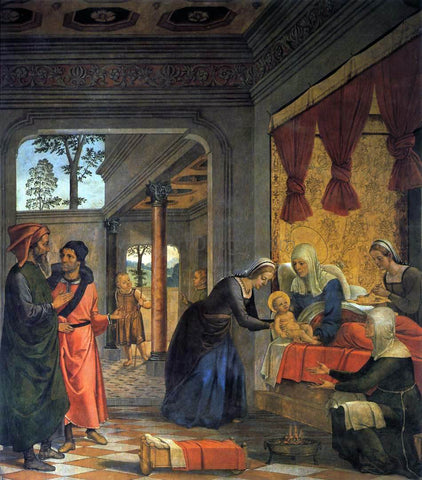 Juan De Borgona The Birth of the Virgin - Hand Painted Oil Painting