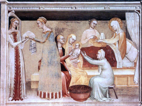 Giovanni Da Milano The Birth of the Virgin - Hand Painted Oil Painting