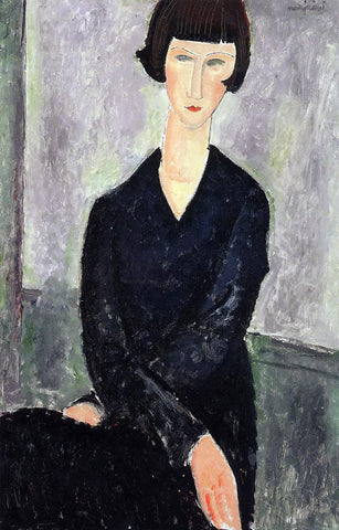 Amedeo Modigliani The Black Dress - Hand Painted Oil Painting