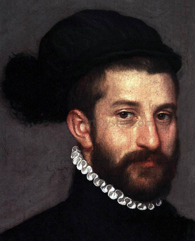 Giovanni Battista Moroni The Black Knight (detail) - Hand Painted Oil Painting