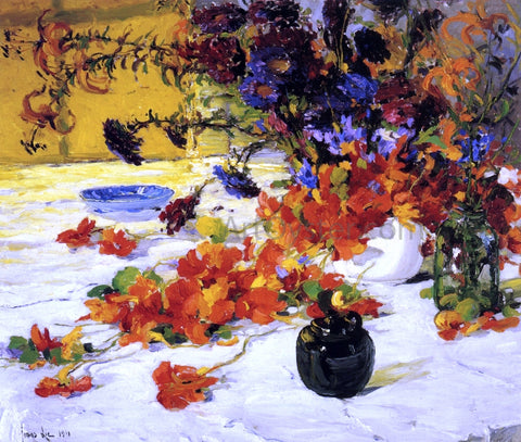 Jonas Lie The Black Teapot - Hand Painted Oil Painting