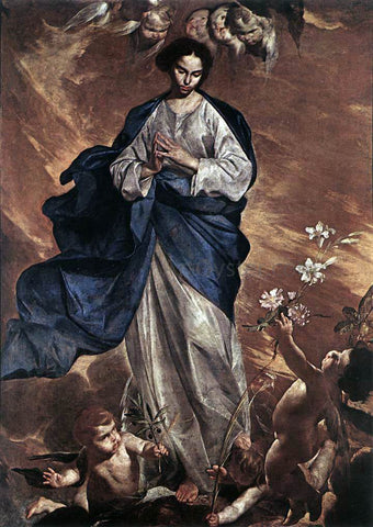 Bernardo Cavallino The Blessed Virgin - Hand Painted Oil Painting