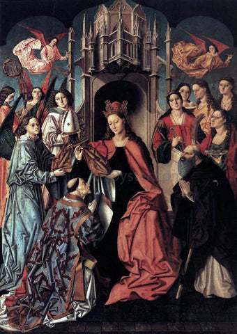 Unknown The Blessing of the Chasuble to St Ildefonso - Hand Painted Oil Painting