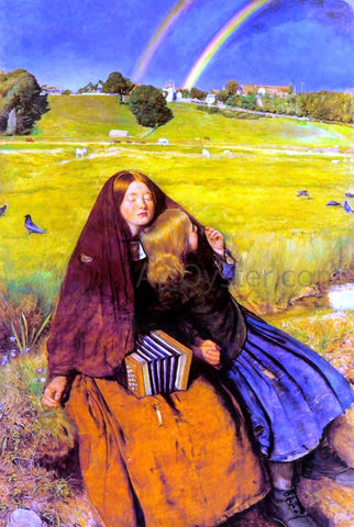 Sir Everett Millais The Blind Girl - Hand Painted Oil Painting