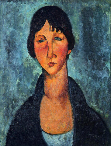 Amedeo Modigliani The Blue Blouse - Hand Painted Oil Painting