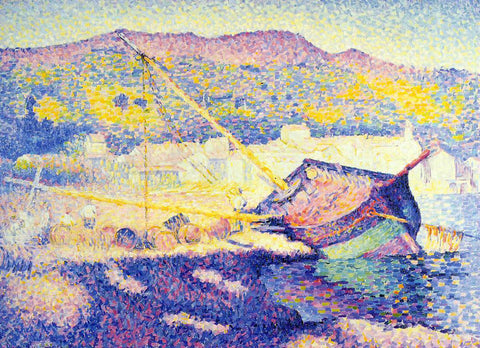 Henri Edmond Cross The Blue Boat - Hand Painted Oil Painting