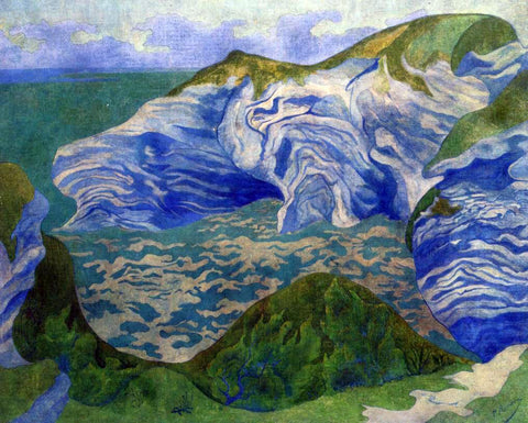 Paul Ranson The Blue Cliffs - Hand Painted Oil Painting