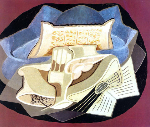 Juan Gris The Blue Cloth - Hand Painted Oil Painting