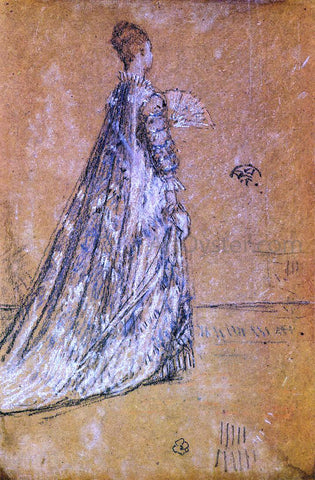 James McNeill Whistler The Blue Dress - Hand Painted Oil Painting