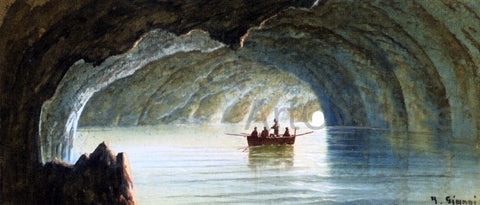 Girolamo Gianni The Blue Grotto, Capri - Hand Painted Oil Painting