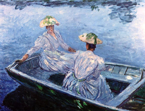 Claude Oscar Monet A Blue Row Boat - Hand Painted Oil Painting