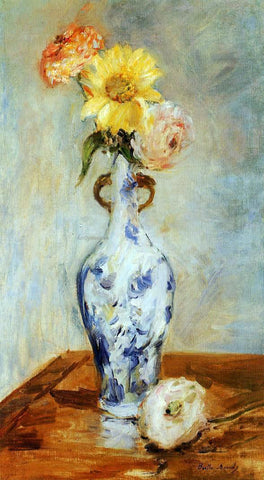 Berthe Morisot The Blue Vase - Hand Painted Oil Painting